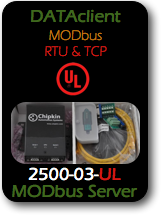 006 CAS 2500-03-UL Data Client - Modbus RTU and TCP - UL