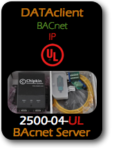 008 CAS 2500-04-UL Data Client - BACnet IP - UL