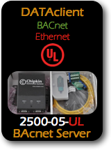 010 CAS 2500-05-UL Data Client - BACnet Ethernet  - UL