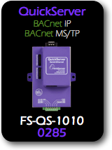 QuickServer, BACnet/IP - BACnet MS/TP