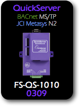 QuickServer, BACnet MS/TP - JCI Metasys N2