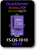 QuickServer, Modbus TCP - BACnet MS/TP