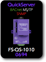 QuickServer, BACnet MS/TP - SNMP